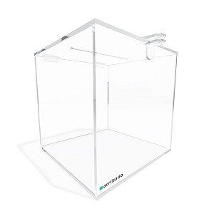 Urna Quadrada Transparente 15x15x15cm