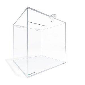Urna Quadrada Transparente 25x25x25cm