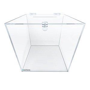 Urna Quadrada Transparente 30x30x30cm