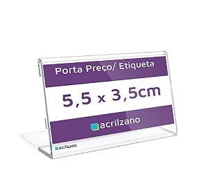Porta Preço E Etiqueta De Acrílico Em L 5,5x3,5cm