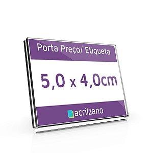 Porta Preço E Etiqueta De Acrílico Em U 5,0x4,0cm