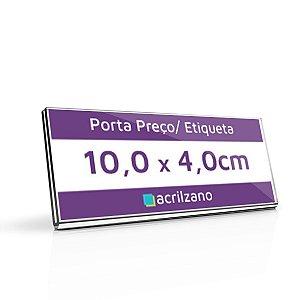 Porta Preço E Etiqueta De Acrílico Transparente Em U 10,0x4,0cm
