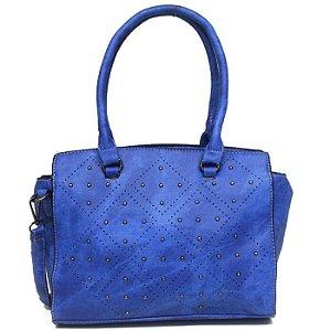 Bolsa Feminina Azul Royal com Detalhes em Esferas