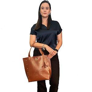 Bolsa Shopper e Carteira Feminina Marrom