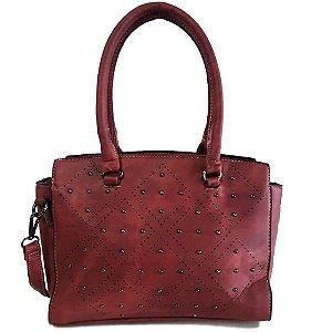 Bolsa Feminina com Detalhe em Strass Vermelha