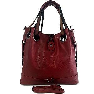 Bolsa Feminina Grande Tipo Saco Vermelha