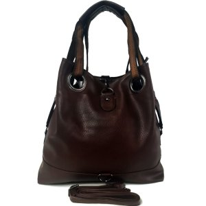 Bolsa Feminina Grande Tipo Saco Marrom Escuro