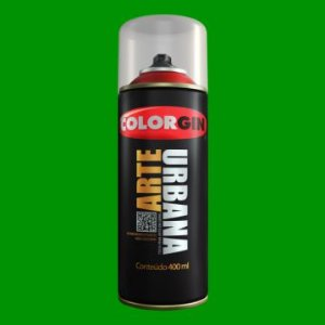 Tinta Spray COLORGIN ARTE URBANA VERDE BANDEIRA 400ML - 915