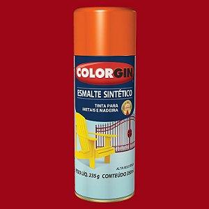 Tinta Spray COLORGIN ESMALTE SINTÉTICO VERMELHO 350ML - 730