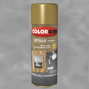 Tinta Spray COLORGIN METALLIK CROMADO 235GR - 51