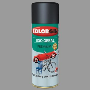 Tinta Spray COLORGIN Uso Geral Prata Real Metálico 400ML -  57061