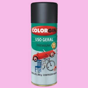 Tinta Spray COLORGIN Uso Geral Rosa GBR 400ML -  56061