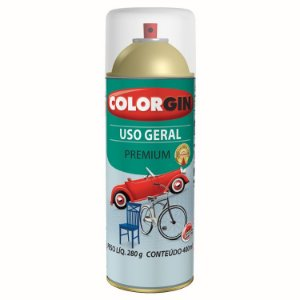Tinta Spray COLORGIN Uso Geral Verniz Incolor Metálico 400ML -  57051