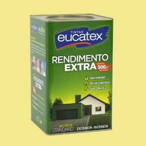 Tinta Acrílica Rendimento Extra Amarelo Canário 18LT Eucatex