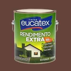 Tinta Acrílica Rendimento Extra Chocolate 3.6LT Eucatex