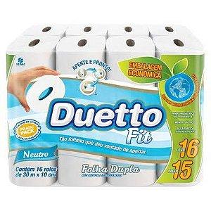 Papel Higiênico Folha Dupla 04X16 30M Duetto