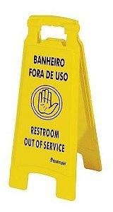 Placa Banheiro Fora de Uso Bralimpia