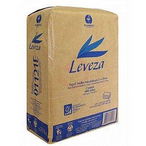 Papel Toalha Interfolhado Folha Simples 23x20 Leveza - Pacote com 1000 folhas