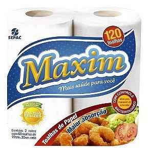 Toalha de Papel para Cozinha Maxim - c/2 rolos
