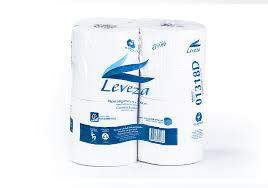 Papel Higiênico Leveza - Folha Simples - rolão 300m