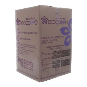 Copo 180ml - Caixa com 2500 unidades - transparente - ECOCOPPO