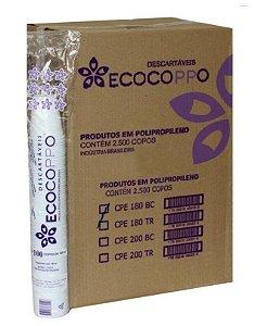 Copo 180ml caixa com 2500 unidades branco - ECOCOPPO