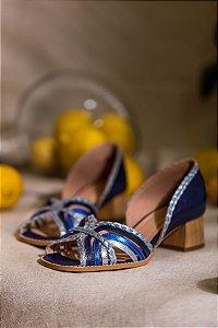 Sapato tressê blue
