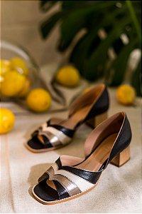 Sapato couro preto