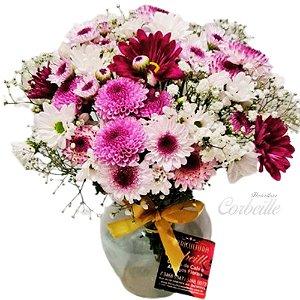 Delicado vasinho com Flores do Campo