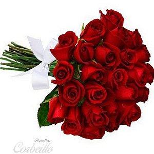 Buquê de 24 lindas rosas vermelhas