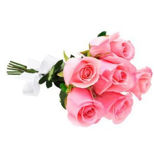 Buquê de 6 rosas na cor rosa