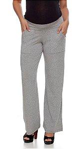 Calça Pantalona Para Gestante Em visco Patrello