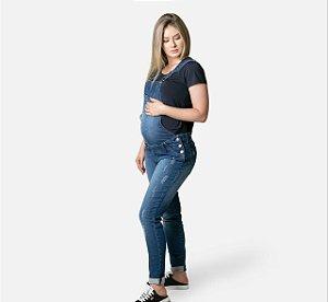 Macacão Jeans Gestante Matterna