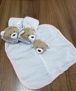 Kit 3 toalhas de boca Urso Nino