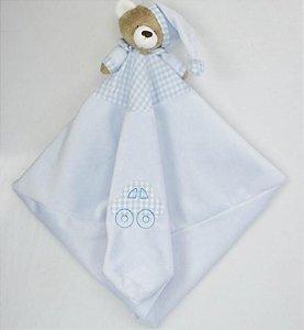 Naninha Urso Nino com prendedor de chupeta (Blanket)