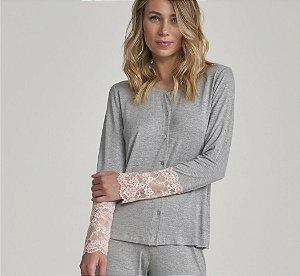 Pijama amamentação manga longa