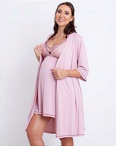 Camisola amamentação com robe