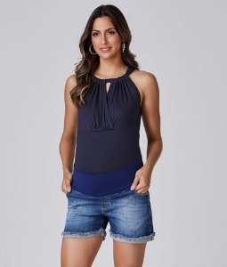 Shorts Jeans Barra Desfiada