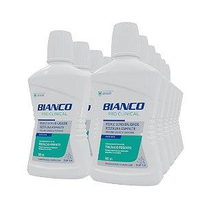 1 Dúzia de Enxaguante Bucal Bianco Pro Clinical (500ml)
