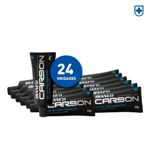 24 un de Creme Dental Bianco Carbon Mini (25g)