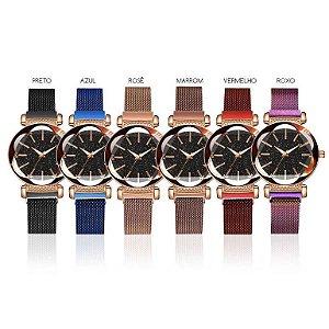 Kit 6 Relógios Diamante Glossy Estrelado