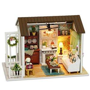 Miniatura: Quebra Cabeça 3D Realista - Sala Aconchegante de Inverno (DIY)