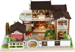 Miniatura: Quebra Cabeça 3D Realista - Casa Japonesa Retrô (DIY)