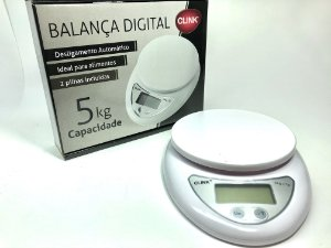 Balança Cozinha 5kg Digital AA (inclusas)