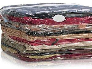 kit 5 sacos organizadores vácuo 110x70cm - Clink