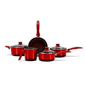 Conj Panelas Ceramic Vermelha Brinox