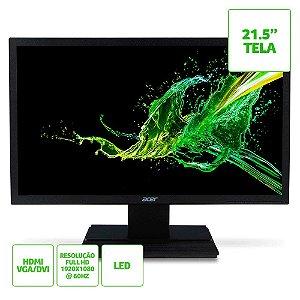 """Monitor Acer V226HQL, 21.5"""" Led, HDMI, Bivolt Preto"""