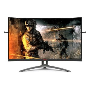 "Monitor AOC 31,5"" Gamer Agon RGB LED FHD Tela Curva, Widescreen VA, 154Hz, Conexão VGA, HDMI 2.0, Display Port 1.4 e Saída de Áudio - AG323FCXE"