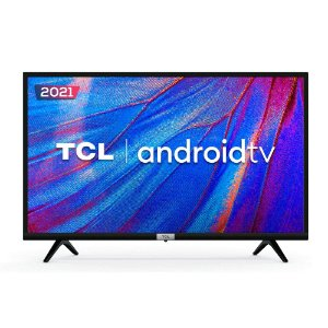 "TV LED 32"" TCL S615 HD HDR, Wifi E Bluetooth Integrados, 2 HDMI, 1 USB, Controle Remoto Com Comando De Voz, Google Assistant, Android, Bivolt"