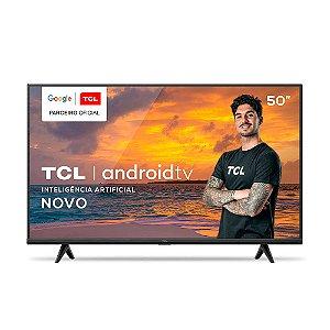 """Smart TV LED 50"""" TCL P615 4K UHD HDR Com Wifi E Bluetooth Integrados, 3 HDMI, 2 USB, Controle Remoto Com Comando Por Controle De Voz, Bivolt"""